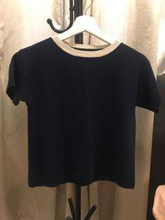 Navy blue knitted top