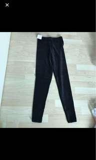 BN Slim Velour Pants winter black