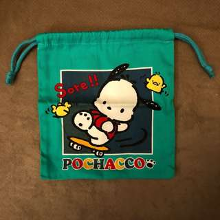 Pochacco索袋 PC狗絕版Sanrio1996