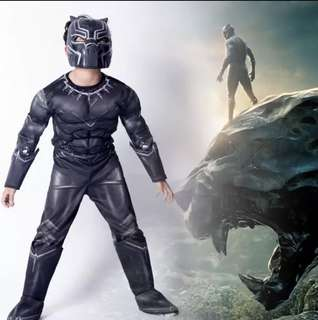 Marvel Superheroes Black Panther Costume Set with muscles