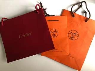 Cartier, Hermes Paper Bag