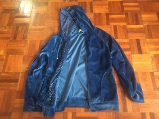 Elle Active Blue Velvet Jacket