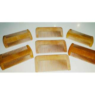 Wooden hair brush & comb