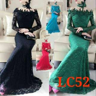 Gaun pesta choker dress panjang