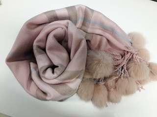 (Preloved) Syal Import Baby Pink