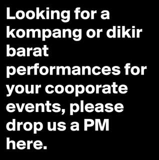 Cooporate shows (kompang & dikir barat)
