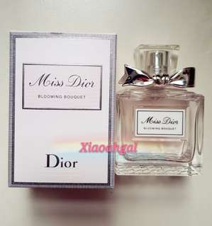 **RESERVE**🌞UP FOR AUCTION▶️MY FOLLOWERS ONLY!🌞🚫Non Followers cannot join in bid🚫🌈AUTHENTIC BRAND NEW🌈🐰50ml EDP Christian Dior -- Blooming Bouquet Perfume💋No pet No smoker Clean hse💋
