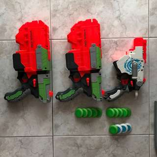 Nerf vortex blasters/guns