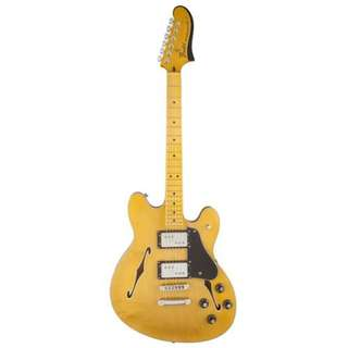 Fender Starcaster Electric Guitar, Maple FB, Natural