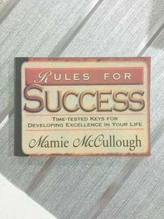 Rules For Success booklet - Mamie McCullough