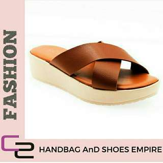 Free Pos Ready Stock new arrival Slip on sandal (brown)