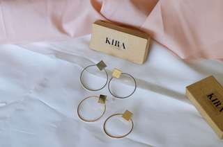 Studded Hoop Earrings Silver & Gold