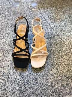🚚 #女款低跟羅馬涼鞋 2色35.36.37.38.39 現貨特價$390