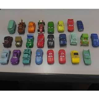 Pixer Cars characters (plastic) 25 nos