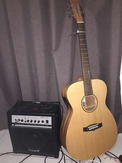 Acoustic Guitar with Amplifier