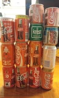 可口可樂罐 (收藏品) 來自不同國家 1993-1999年