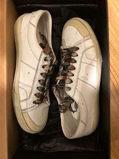 Saint Laurent Paris camo lace sneakers