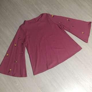 Pink long sleeve top