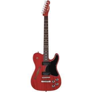 Fender Jim Adkins JA-90 Telecaster Electric Guitar, Crimson Red Transparent