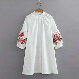 White Embroidered Shirt