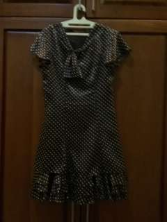Polka dress satin