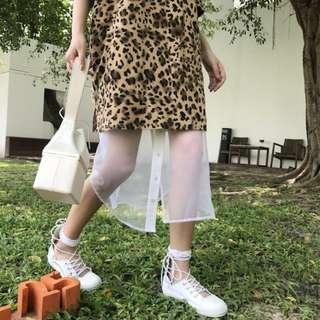 VM 原創百搭 基本款 純白甜美 真皮牛皮綁帶設計 小白鞋