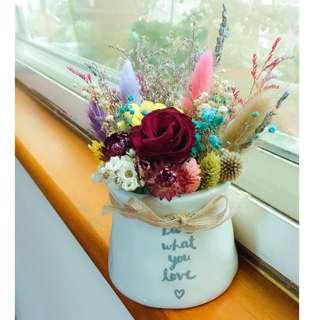 🚚 乾燥花小盆栽🌹