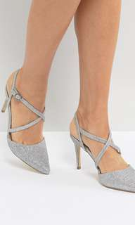 New look glitter heels