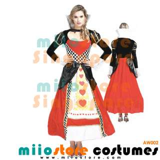 RENT/BUY Queen of Hearts Alice in Wonderland  Ace Club Costume Dress Rabbit Cheshire Heart King of Hearts