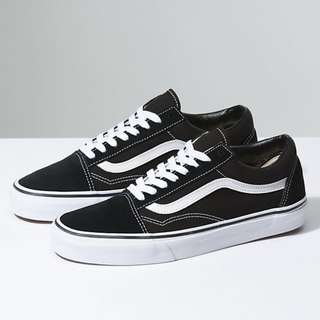 VANS OLD SKOOL BLACK/WHITE 7.5