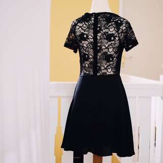 Forever 21 See-Through Black Dress