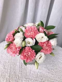 Carnation Round Table-Top Arrangment