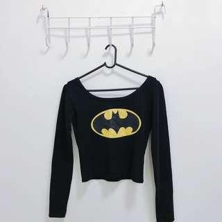 Batman Long Sleeve Crop Top