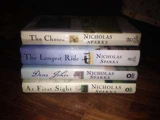 NICHOLAS SPARKS HARDBOUND BOOKS