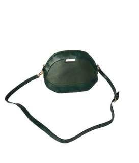 mango dark green sling bag