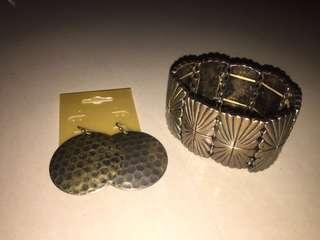 Earrings with Bracelet bundle