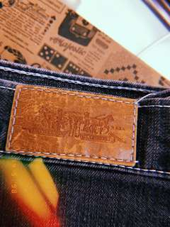 Vintage High-Waisted Levi's Dark Wash Skinny Jeans