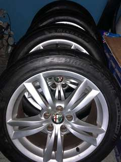Alfa Romeo 159 rims and tyre