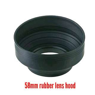 58mm Collapsible Rubber Lens Hood - Free Posting
