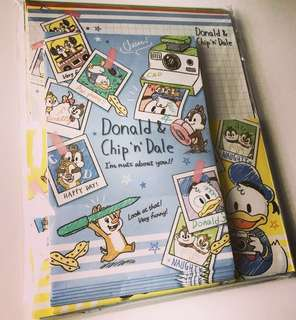 日本製chip&dale信紙信封set