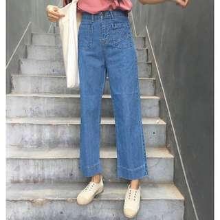 🚚 高腰修身牛仔褲 含吊牌