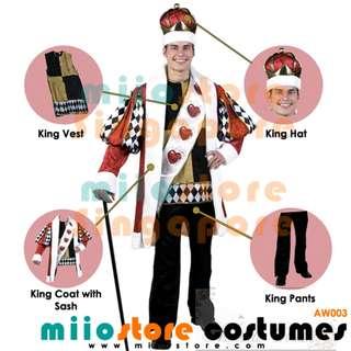 RENT/BUY King of Hearts Alice in Wonderland Costumes