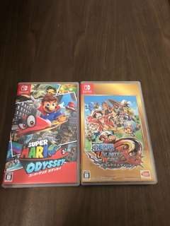 Mario odyssey + one piece Unlimited world
