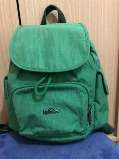 Kigling鮮綠色小型後背包