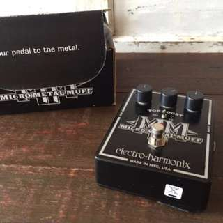 Micro Metal Muff Distortion with Booster