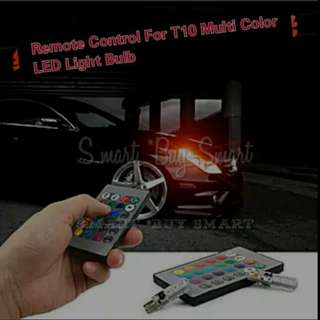 T10 Car Headlight Bulbs With Remote RGB