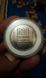 koin 100 franc 1950