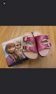 全新正版Disney Frozen Elsa Anna 雪人 兒童涼鞋 女童涼鞋