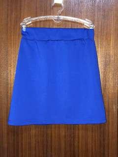 寶藍色短窄裙