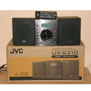 JVC CD/USB床頭音響(UX-G210 -5 CMT-FX200